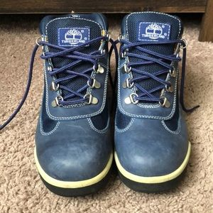 Blue Timberland boots